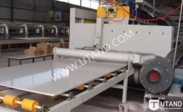Quartz slab polishing line process