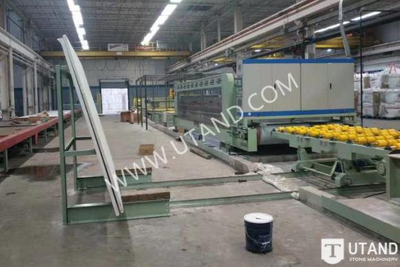 Quartz stone slab polishing line