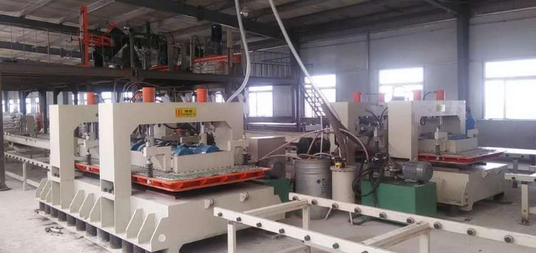 artificial quartz slab production line scene
