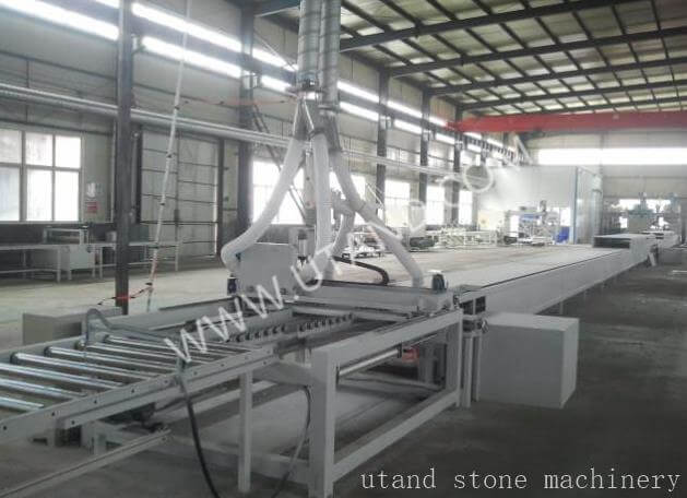 Solid surface production line