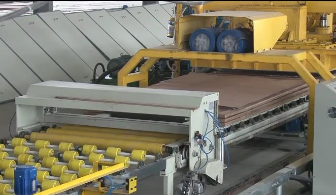 quartz stone pressing line machinery