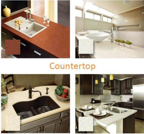 artificial quartz stone application
