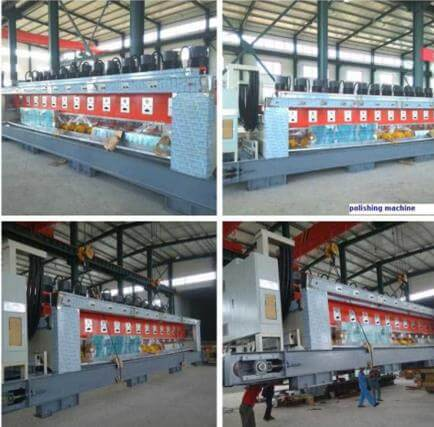 automatic Stone Polishing Machine in factory