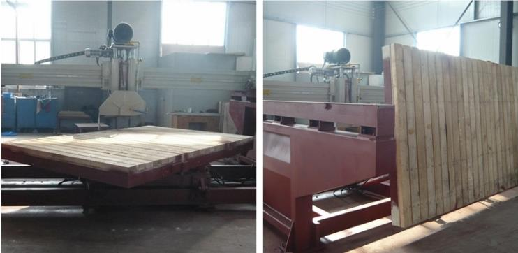 bridge cutting machine rotating photo